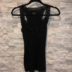 Mossimo black lace trim tank top